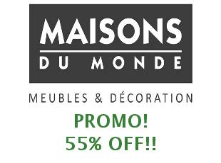 Receive the latest Maisons du Monde online voucher codes to your inbox