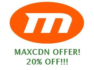 Discount code MaxCDN save up to 30%