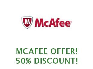 Promotional codes and coupons McAfee