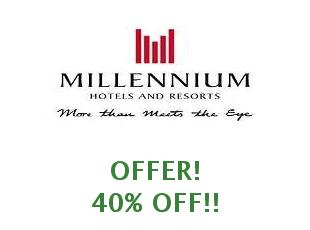 Discounts Millennium Hotels save 30% verified