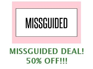 Discount coupon Missguided save up to 50%