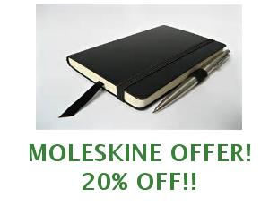 Discount coupons Moleskine