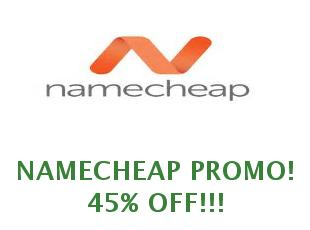 Discounts Namecheap 40% off