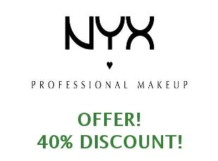Discounts NYX Cosmetics save up to 40%