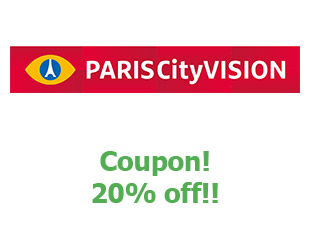 Promotional codes and coupons ParisCityVision 20% off