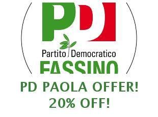 Discount coupon PDPAOLA save up to 15%
