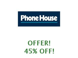 Promotional codes and coupons PhoneHouse save up to 50%