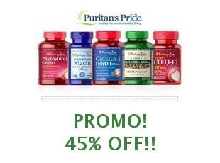Coupons Puritans Pride save up to 30%
