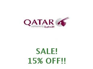 Discount code 40% off Qatar Airways