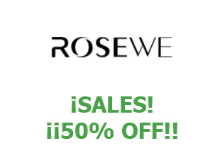 Promotional codes and coupons Rosewe