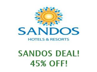 Promotional codes and coupons Sandos 5% off