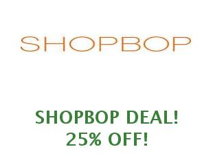 Promotional codes  ShopBop save up to 25%