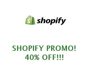 Promotional offers and codes Shopify save up to 40%