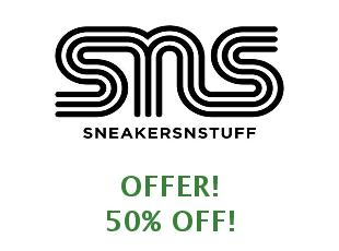 Promotional offers and codes Sneakersnstuff save up to 50%