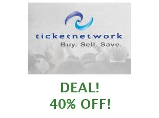 Discounts TicketNetwork save up to 10%