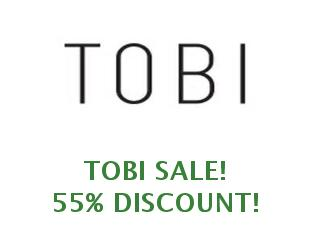 Promotional codes and coupons Tobi 50% off