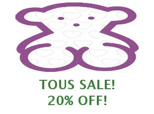 Discount coupons Tous, save up to 15%