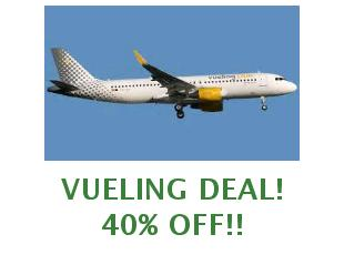 Coupons Vueling, save 20 euros on your flight