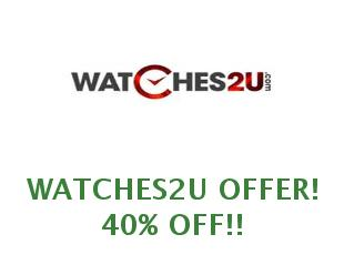 Promotional codes Watches2U 15% off