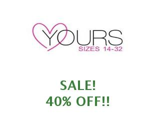 Discount coupon Yours Clothing save up to 20%